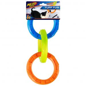NERF  3 Ring Tpr Dog Tug Toy 11.5in