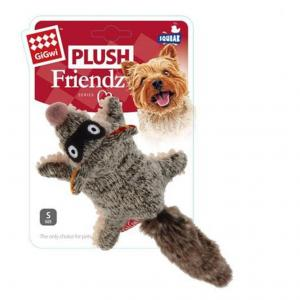 GIGWI  Plush Raccoon Squeaker