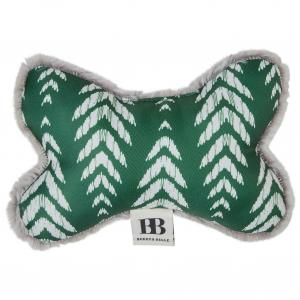 Buddy & Belle  Amazon Green Aztec/grey Plush Bone Toy