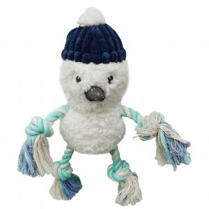 Bark-a-boo Frozen In Time Rope Arms & Legs Snowman Dog Toy Medium