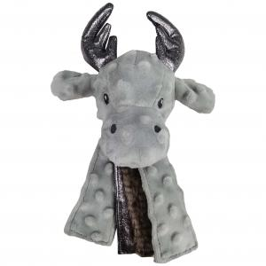 Bark-a-boo Frozen In Time Moose Head With Tails Dog Toy