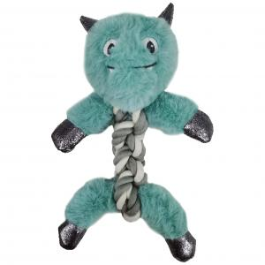 Bark-a-boo Frozen In Time Yeti Rope Twisters Dog Toy Mini