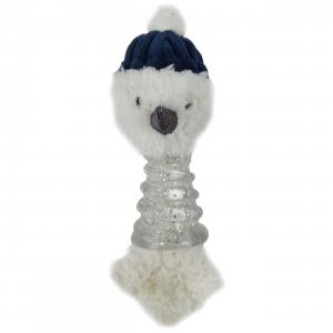 Bark-a-boo Frozen In Time Mongoose Snowman Dog Toy Mini