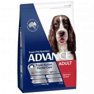 Advance  Medium Breed Triple Action Dental Care Chicken Dry Dog Food 13kg