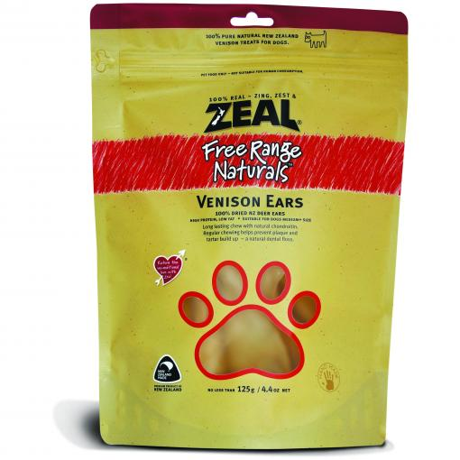 ZEAL FRN Zeal Free Range Naturals Venison Ears Dog Treats 125G thumbnail