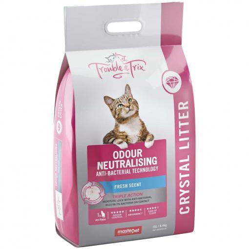 Trouble N Trix Trouble & Trix Fresh Scent Anti Bacterial Crystal Cat Litter thumbnail