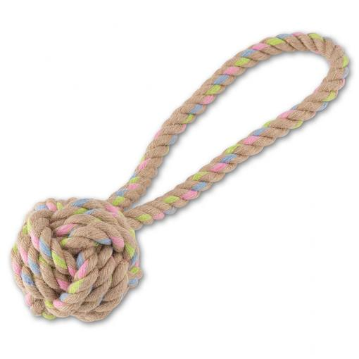 Beco Things Beco Hemp Rope Ball with Loop Dog Toy thumbnail