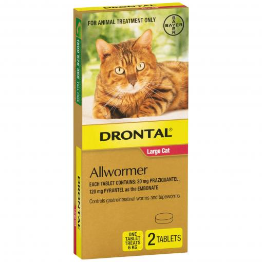 Drontal Drontal Ellipsoid Allwormer 6kg Cat 2 Pack thumbnail