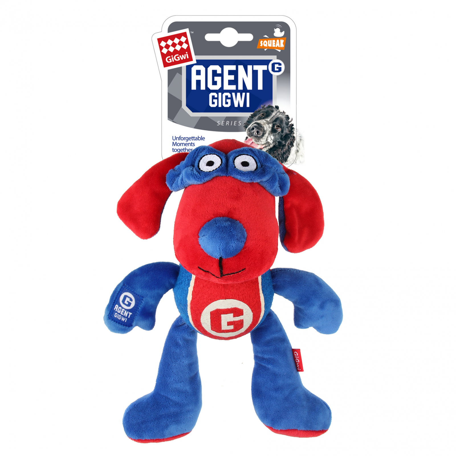 GIGWI Gigwi Agent Gigwi Dog Plush And Tennis Ball With Squeaker