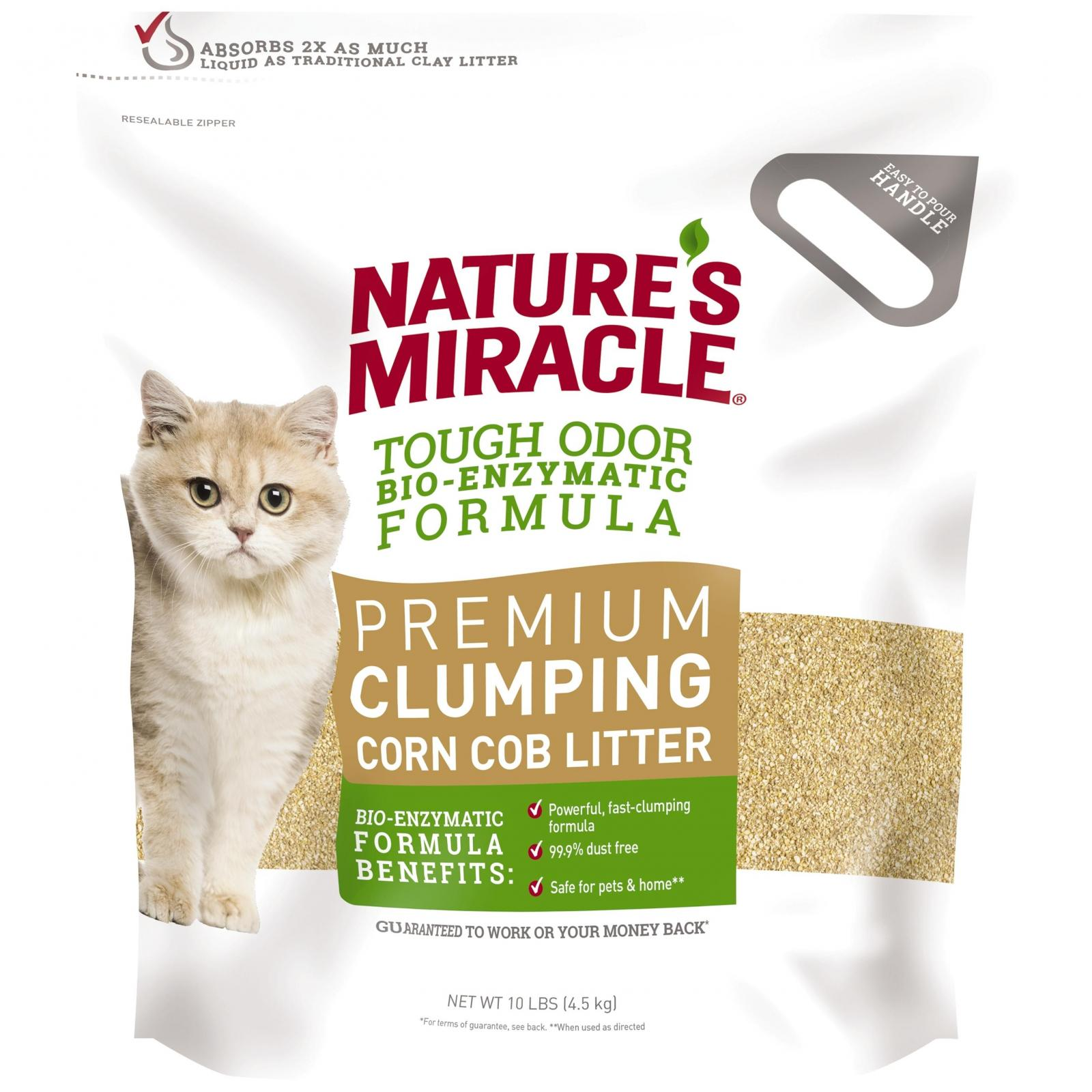 Natures Miracle Nature's Miracle Premium Corn Cob Clumping Cat Litter 4.5Kg