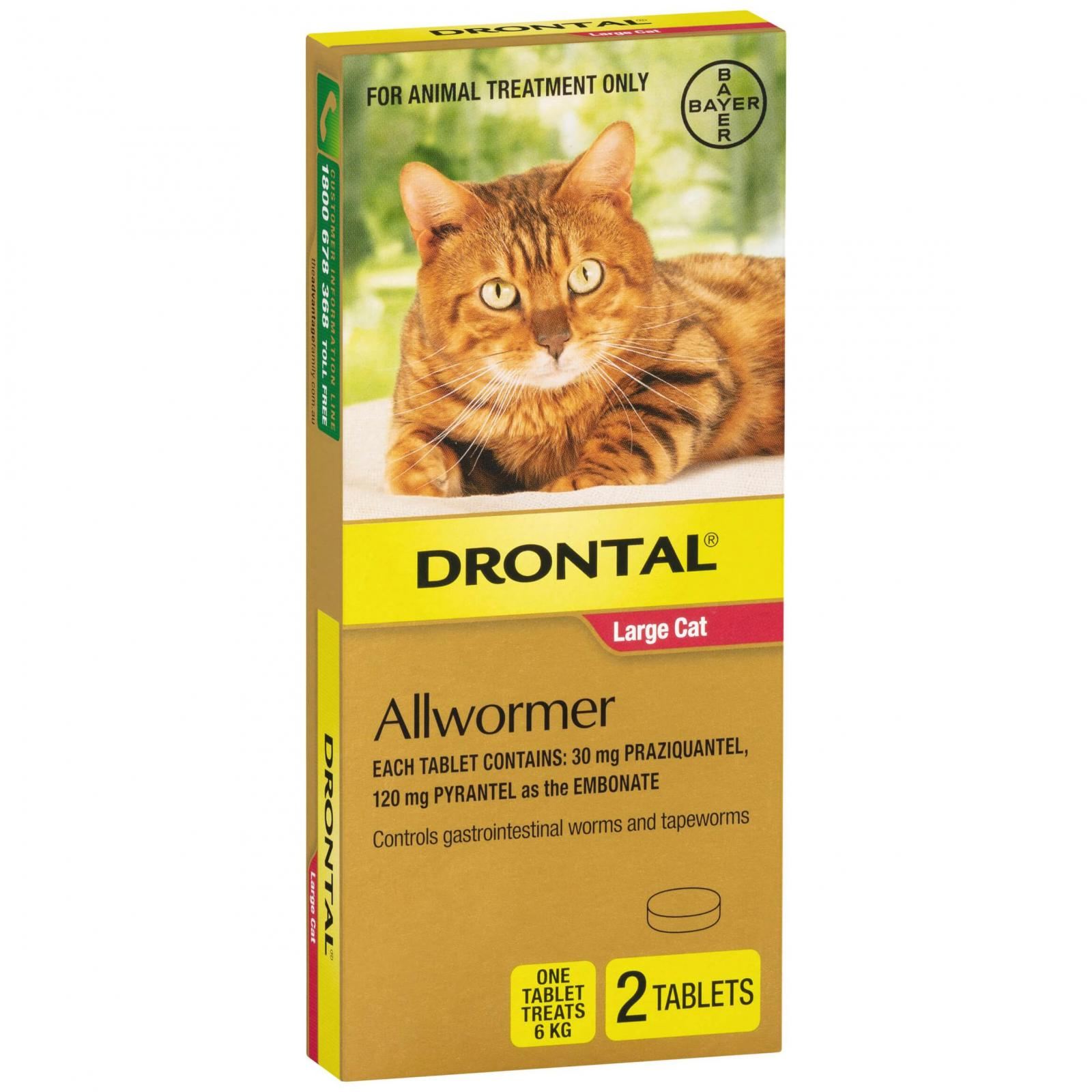Drontal Drontal Ellipsoid Allwormer 6kg Cat 2 Pack